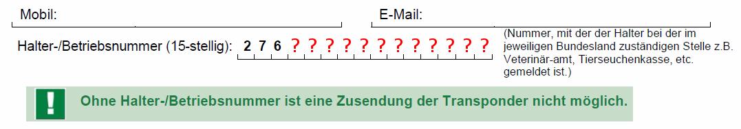 Equidenpass: Die Sache mit der Betriebsnummer