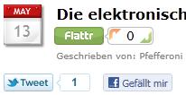 Vorrübergehend: Flattr- und Like-Button