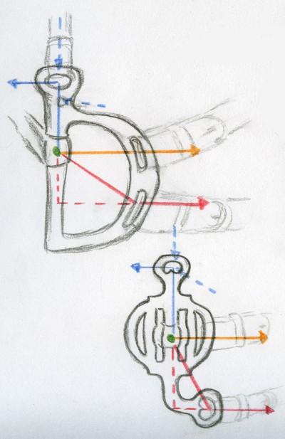 Spring- und Friesenkandare mit verschiedenen Verschnallungen