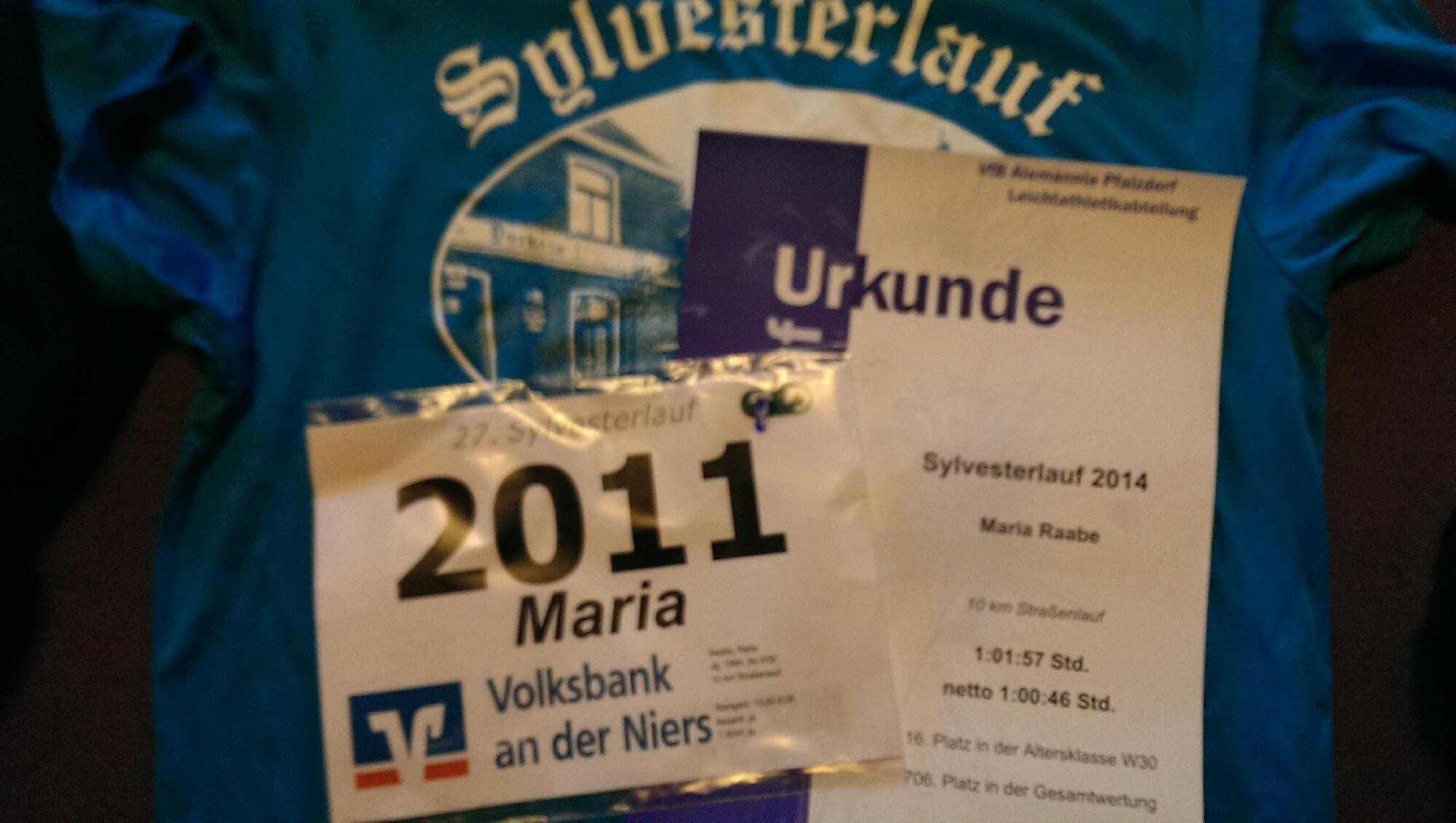 Letzte Teilnahme an einem 10km-Lauf und fast die Stunde geknackt.
