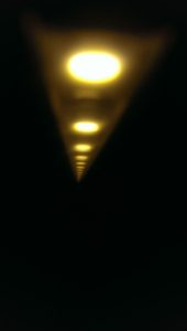 Mein Stricklicht (abgedunkelt fürs Foto
