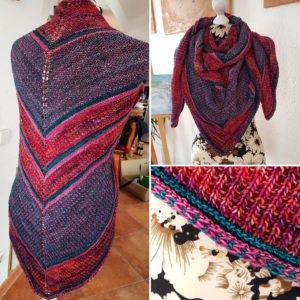 "Der ""Retro Rib Shawl"" von The Knitting Me"
